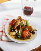 Pollo alla veneziana (Huhn in Wein geschmort, Italien)