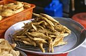 Keropok lekor (Pureed fish mixed with sago, Malaysia)