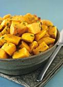 Fried pumpkin pieces