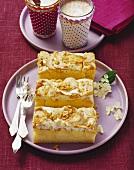 Apple cake with peanut meringue