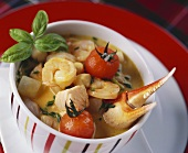Fish and seafood stew with saffron
