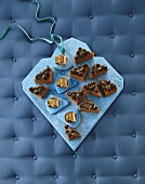 Winter tea slices and chocolate nut slices