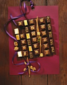 Chocolate squares and 'Residence slices' for Christmas