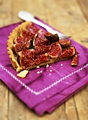 A piece of fig tart
