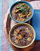 Moroccan lentil soup with lamb and Ramadan soup