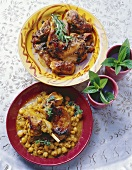 Two Moroccan rabbit dishes