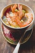 Asian prawn soup