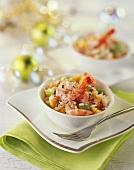 Seafood salad for Christmas