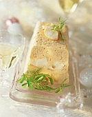 Seafood terrine for Christmas