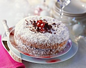 Coconut chocolate cake for Christmas