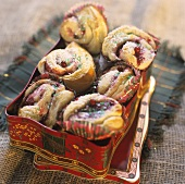 Julbullar (Christmas pastries with pearl sugar, Sweden)