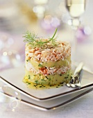 Crabmeat and potato cake for Christmas
