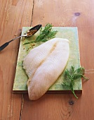 Plaice fillet with fennel
