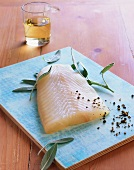 Fillet of Pacific halibut