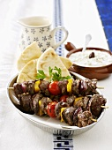 Lamb kebabs with tzatziki