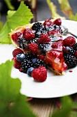 A piece of berry tart