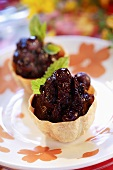 Cassis tarts