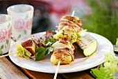 Shashlik and courgette