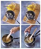 Making scrambled egg with truffle