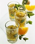 Kiwi fruit and orange confiture