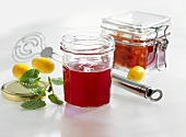 Redcurrant jelly and rowan berry compote