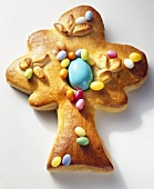 Baked Easter tree (yeast dough)
