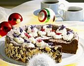 Chocolate cheesecake for Christmas