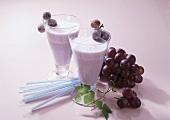 Grape juice milkshake