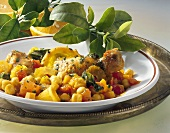 Chick-pea stew with chicken and orange