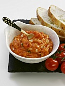 Soya and tomato dip or spread