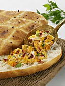 Flatbread with Turkish carrot spread