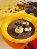 Real chocolate soup