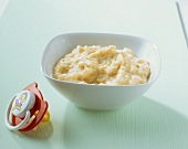 Rice and pear purée (baby food)