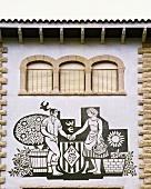 Entrance to Bodega Juvé y Camps, Sant Sadurní d'Anoia, Catalonia, Spain