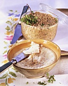 Styrian Grammelschmalz (lard with crackling), rillettes