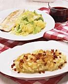 Endive & potato stamppot (stew), Himmel & Erde (potato & apple)