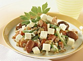 Spelt salad with beans