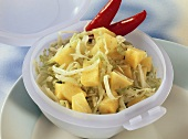 Cabbage salad with pineapple