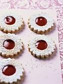 Linzer biscuits