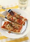 Pizza al taglio (cut pizza) Campania, Italy