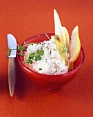 Gorgonzola cream with pears