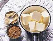 Ingredients for fenugreek butter