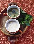 Bulgur wheat soup and herb soup, Morocco