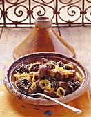 Lamb tajine with plums