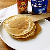 Pancakes with coconut milk or buttermilk