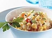 Bulgur wheat and sweetcorn salad