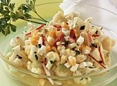 Cauliflower, radish and egg salad