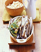 Ingredients for razor clam salad