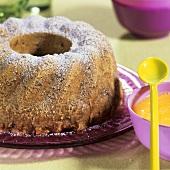 Moist nut pudding