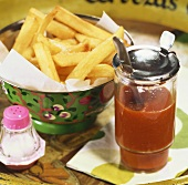 Chips and curry ketchup
